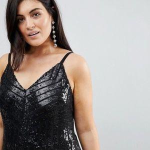 db6e02871a88d ASOS Dresses - Club L Plus Cami Strap All Over Sequin Maxi Dress